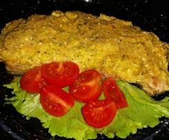 Schnitzel mit Zucchini-Feta-Haube - LOW CARB