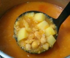 Kichererbsensuppe mit Kartoffeln