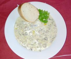 Hackfleisch-Käse-Lauch Suppe