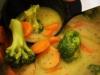Curry Zucchini Cremesuppe mit Brokkoli und Karotten >> Figurfreundlich >> Vegan >> Basisch >> Einfach Lecker