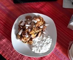 Griechische  Bratkartoffeln  mit Zaziki