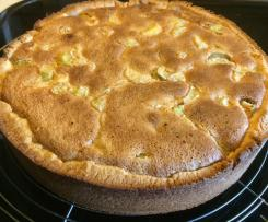 Rhabarberkuchen mit Haselnuss/Mandelguss