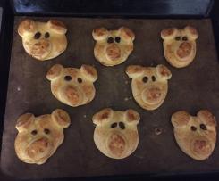 Glücksschweinchen für Silvester (Glücksschweine)