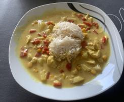 Variation Curry-Hähnchen