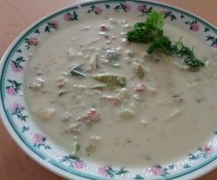 Lauch-Käse-Hackfleisch Suppe TM 5