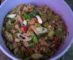 Fleischsalat aus Grillfleischresten, asiatische Art
