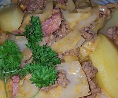 Kartoffel-Kraut-Eintopf mit Hackfleisch