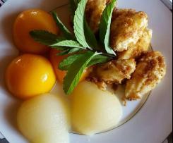 "Grießklößchen mit Obst, Omas Rezept, Pfälzer ""Griessknepp"""