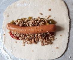 Variation von Hotdog