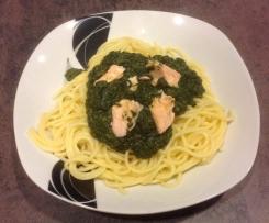 Spaghetti mit Lachsspinat (WW-tauglich)