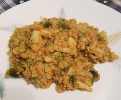 Curry mit Brokkoli und gelben Linsen