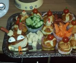 Partyschlange Laugenbrötchen Kindergarten Partywurm Gebäck