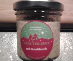Kräuter-Senf mit Knoblauch und Ingwer