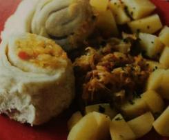 Strudli - Dampfnudeln mit Sauerkraut