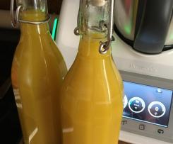 Erkältungssirup mit Ingwer, Zitrone und Gewürzen