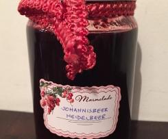 Schwarze Johannisbeer-Heidelbeere Marmelade