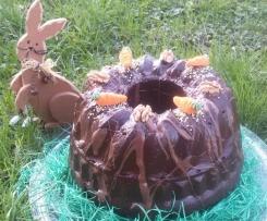 Hasenkuchen / Karottenkuchen mit Äpfel und Walnüssen