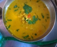 Chana Daal, indische gelbe Linsen mit Kokos