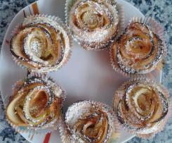 Apfel-Muffins, Apfelrosen