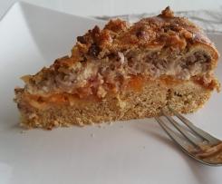 Saftiger Obstkuchen mit Nussstreusel (ohne Weizen und Kuhmilch)