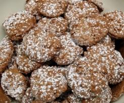 Schokoladen-Mandel-Plätzchen (Weihnachtsplätzchen)