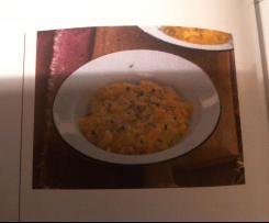 Kürbisrisotto mit Fontina-Käse