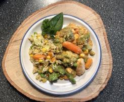 Gemüseauflauf oder Hähnchengemüseauflauf