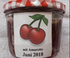 Kirschmarmelade mit Amaretto