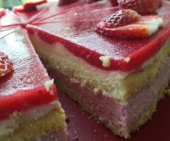 Erdbeer-Maracuja-Torte