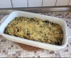Zartweizen-Spinat-Auflauf