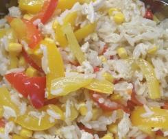 Hähnchengeschnetzeltes mit Reis, Geschnetzeltes, Hähnchen, WW, Weight Watcher tauglich
