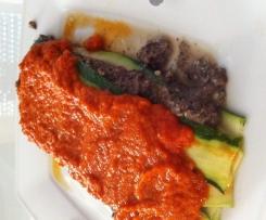 Zucchini Champignon Lasagne vegan