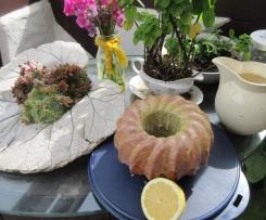 Zitronenkräuter Rührkuchen