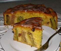 Rhabarberkuchen 20cm Form für Verliebte