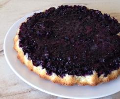 Blaubeer-Kokos-Kuchen oder mit Rhabarber saftig locker