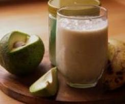 Variation von Bananen-Honig -Milch