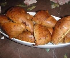 Zwiebelsemmeln - Zwiebelbrötchen