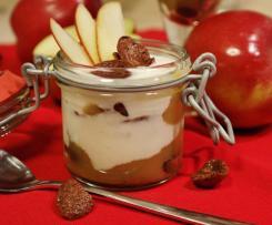 Heißes Apfelstrudel Dessert