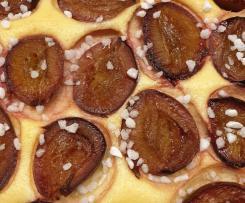 Käse-Grieß-Pflaumenkuchen