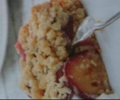 Pflaumenkuchen mit Mandelstreuseln