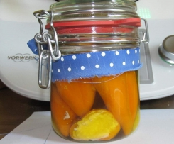 Gefüllte Mini Paprika in Öl