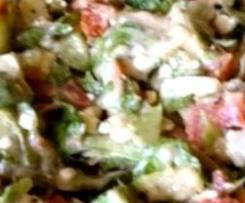 Variation von griechischem Bauernsalat
