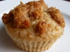 Rhabarber Muffins mit Crumble Topping