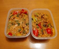Indisches Curry mit Hähnchen und Reis (All in One)