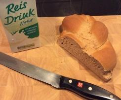 Hefezopf mit Weizenvollkornmehl