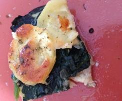 Pastinaken-Spinat-Auflauf