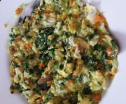 Hähnchenspinatcurry mit Basmatireis