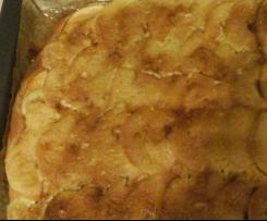 Apfel-Rahm Blechkuchen