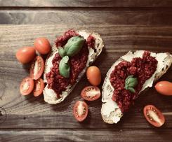 Blutrotes Zwiebelmett (vegan)