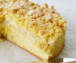 Veganer Apfel-Pudding-Streusel-Kuchen
